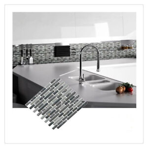 Mosaic Self Adhesive Wall Tile Sticker Vinyl Bathroom Kitchen Home