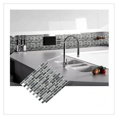 Mosaic Self Adhesive Wall Tile Sticker Vinyl Bathroom Kitchen Home Decor K Ebay
