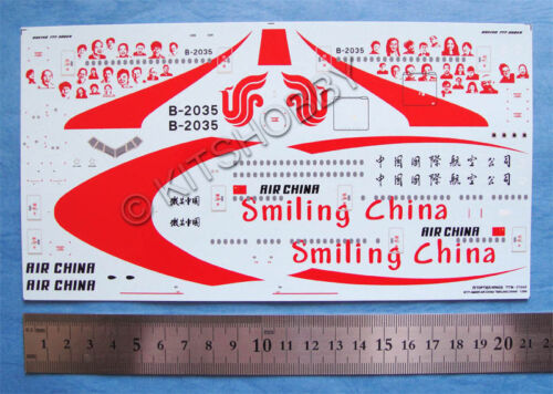 Smiling China TOPTIERHOBBY 1//200 Boeing 777-300ER Air China decal