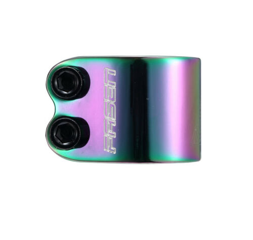 Fasen Stunt Scooter Morsetto doppio-standard//Oversize-NEO Chrome//MAREA NERA