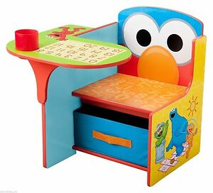 Beau Image Is Loading Elmo Storage Desk School Kids Activity Chair Play