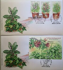 Malaysia FDC with MS & Stamps (20.01.2015) - Medicinal Plants Series III