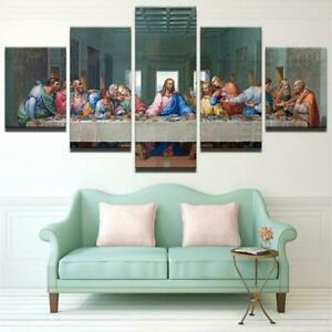 Christ-Jesus-Painting-Great-God-Poster-Wall-Art-Home-Decor-5-pieces-Canvas-Print