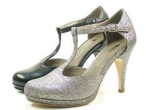 Details zu Tamaris 1 24428 20 Schuhe Plateau Pumps High Heels T Spange