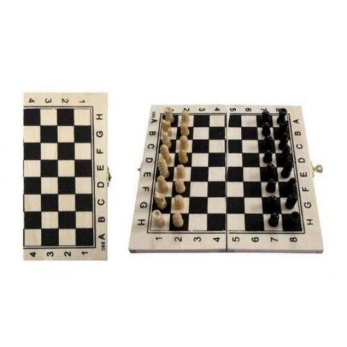 Holz Schachspiel Schachbrett Größe ca 21x21cm mit Spielsteinen