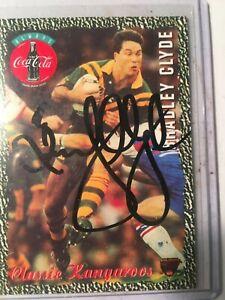 1995-AUS-Rugby-League-Coca-Cola-Kangaroos-Classic-No2-Signed-Bradley-Clyde-C-O-A
