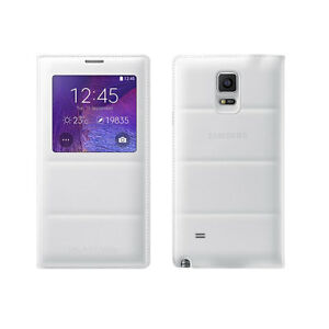 best service 427c7 177c8 Details about Samsung Galaxy Note 4 Case, S View Flip Cover Folio Case -  White