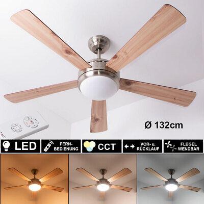 LED Decken Ventilator Lüfter Glas Tageslicht Küchen Lampe Timer FERNBEDIENUNG