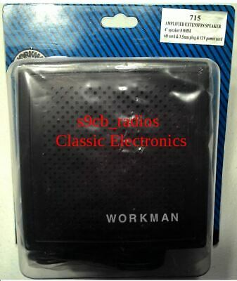 """WORKMAN 715 4/"""" 8 OHM AMPLIFIED EXTENSION SPEAKER WITH 6 FOOT CABLE /& 3.5MM PLUG"""