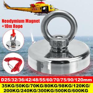 Neodyme-Peche-Salvage-Recuperation-Aimant-Pour-Detection-Metal-Tresor-Corde