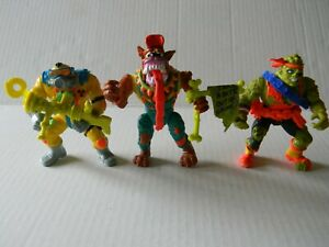 Vintage-1991-Toxic-Avenger-Lot-Of-3-Action-Figures-By-Troma-Playmates