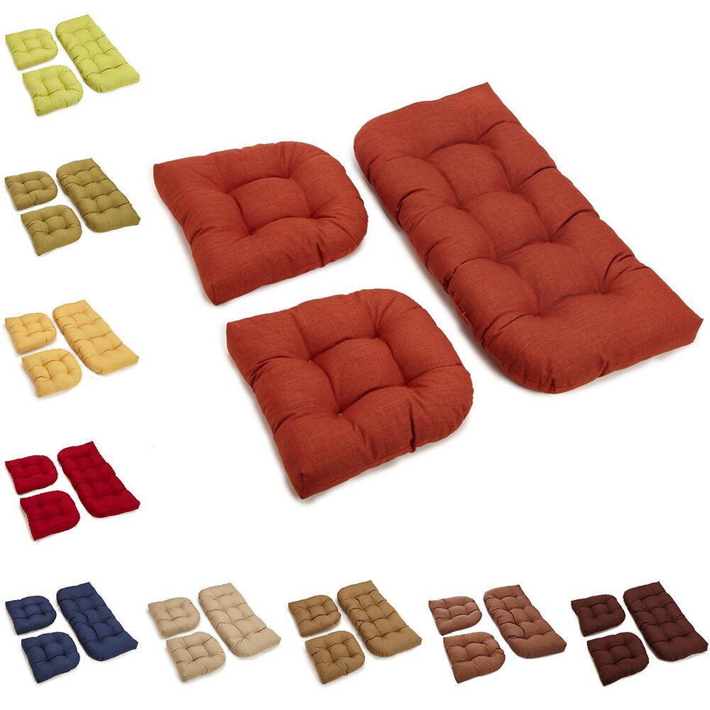 patio furniture cushions garden swing seat pad pillows outdoor bench cushion set ebay. Black Bedroom Furniture Sets. Home Design Ideas