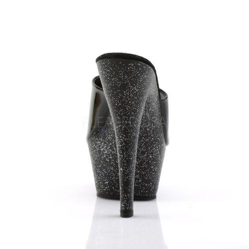 201 Femmes Noir Iris Talon Aiguille Plateforme Diapositive Strip-teaseuse Chaussures Pleaser KISS