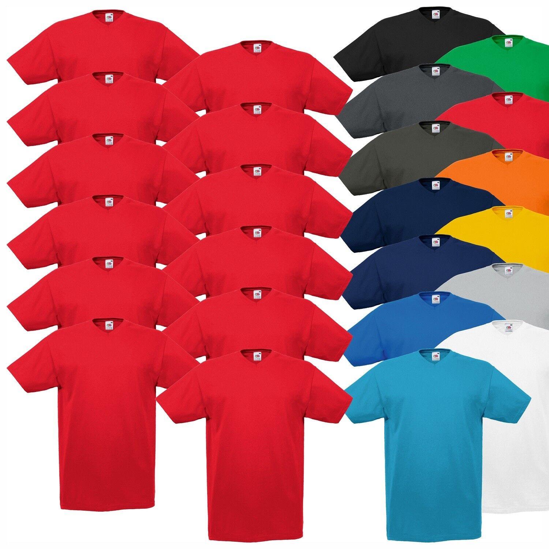 12er Pack T Shirt 5XL T Shirt Loom the of Fruit V Ausschnitt