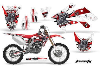 Dirt Bike Kit Grafica Decalcomania Adesivo Per Honda Crf250r 2004-2009 Tossico R Non-Stireria