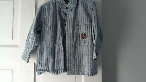 AgréAble Bébé Garçons Bleu Clair Carreaux Shirt à Manches Longues Âge 18 Mois-afficher Le Titre D'origine Le Plus Grand Confort