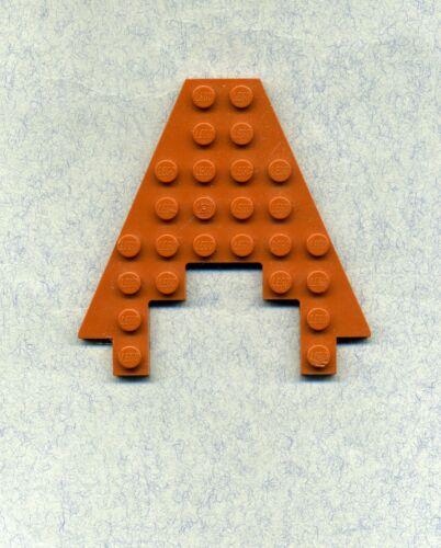 8 x 8 Platte Mit Ausschnitt  3 x 4 Flügel Orange/DKOrange Lego-- 6104