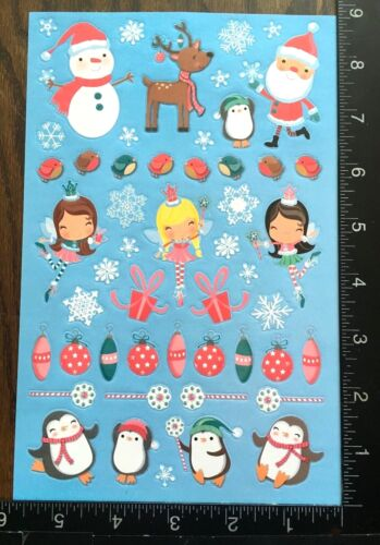 ONE SHEET BEAUTIFUL STICKERS #HADAS02 CHRISTMAS FAIRIES BY CREATOLOGY