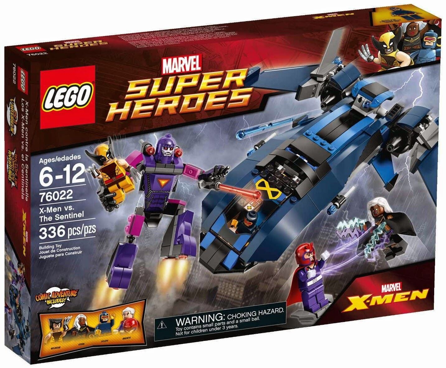 Lego Super Heroes X-Sie vs The Sentinel Set  76022 Brand New Sealed 4 Minifigs