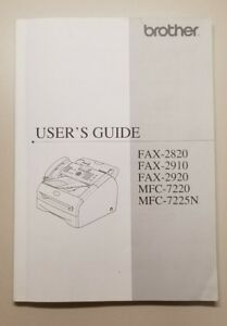 Brother fax-2820, fax-2825, fax-2910, fax-2920, mfc-7220 mfc.