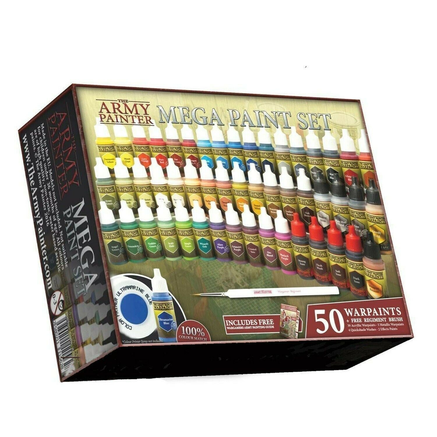 The Army Painter Wargamers Complete Paint Paint Paint Set 50 Paints 1 Brush 54b
