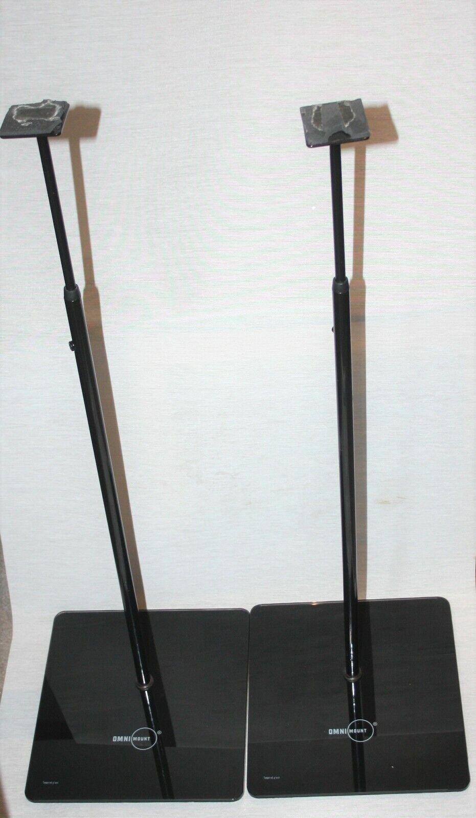 OmniMount EL0 Small Satellite Speaker Stands - Universal - (Pair)