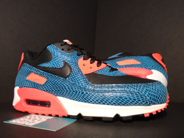 Nike Air Max 90 ANNIVERSARY DUSTY CACTUS BLUE BLACK INFRARED WHITE 725235-300 DS