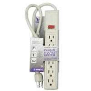 Details About Cooper Wiring 1136v Multiple Outlet Power Strip With Breaker 6 Outlet Ivory
