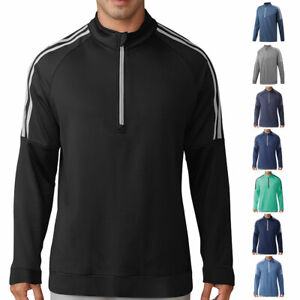 Adidas-Golf-Homme-3-Rayures-1-4-Fermeture-eclair-Pullover-Pull-Sweater-45-off-RRP