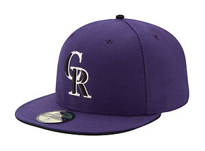 premium selection 6a8b4 dab87 Image is loading New-Era-59Fifty-MLB-Cap-Colorado-Rockies-Alt-