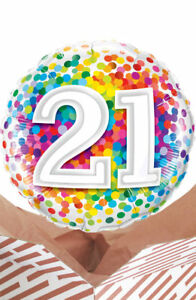 Image Is Loading 21st Birthday Rainbow Balloon In A Box Gift
