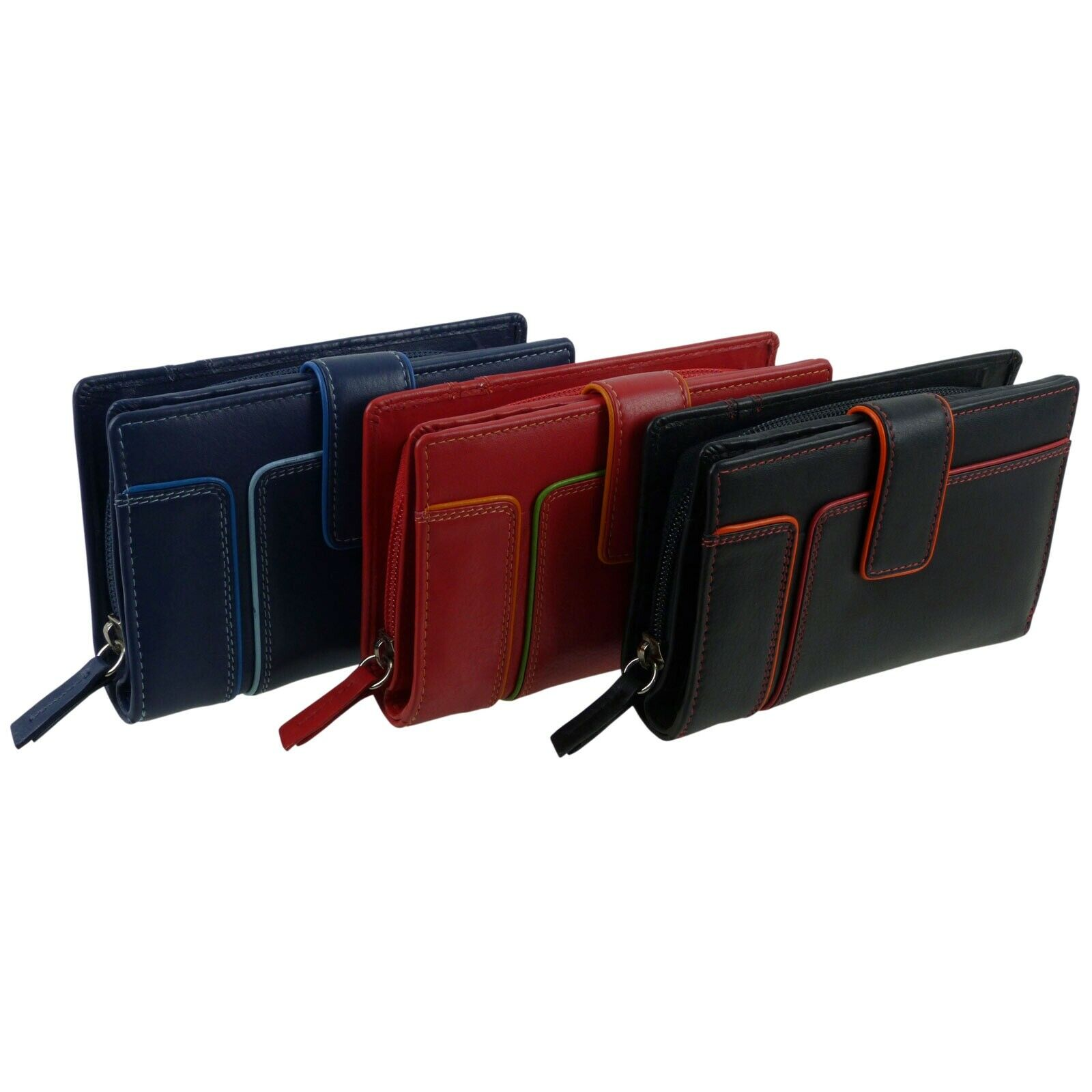 Ladies Top Quality Medium Tabbed RFID Purse From The Hette Range By Prime Hid...