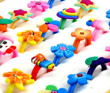 10pcs/set Wholesale Lots Jewelry Mixed Children Polymer Clay Rings Free Shipping