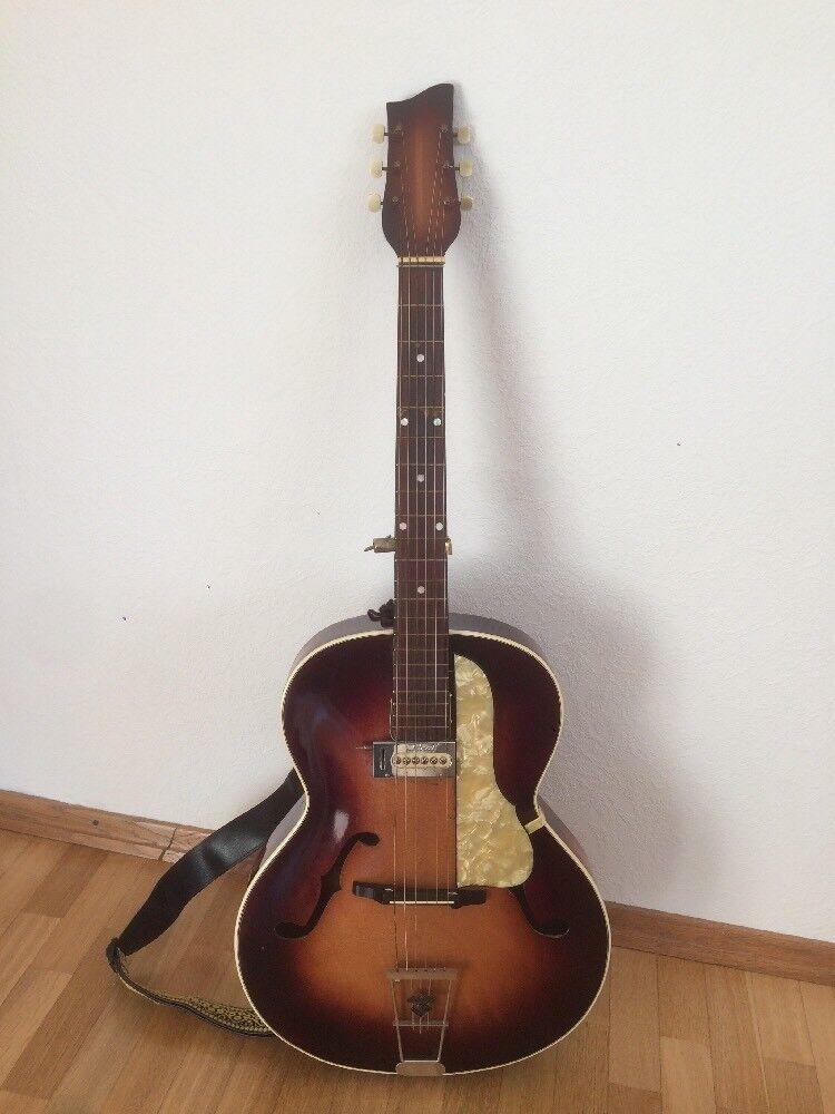 ANTIQUE Original  HOPF Gitarre.mit Alte Stopf Tasche