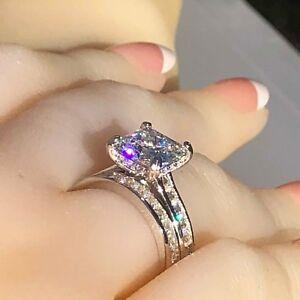 Wedding-ring-set-princess-cut-simulated-diamond-engagement-ring-925-silver-ring