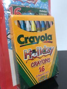 Holiday Crayons Crayola 16 Count Regular Metallic Non Toxic Assorted Kids C154