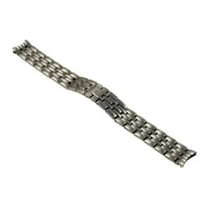 NIVREL-Metallarmband-massiv-Baguetteband-Doppelfaltschliese-rund-14-mm