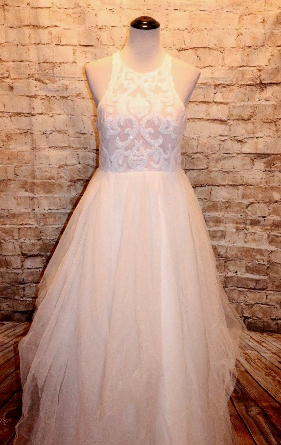 7f2535746a7 Modcloth Of Elope Wedding Dress NWT 4 Bariano sequin tulle Glimmer Maxi  ohmlrm14300-Dresses