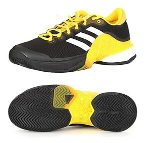 7be42fb1450b Adidas Men Barricade Boost Tennis Shoes Running Black Sneakers Shoe ...