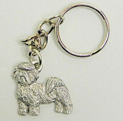 SHIH TZU Dog Fine Pewter Keychain Key Chain Ring New