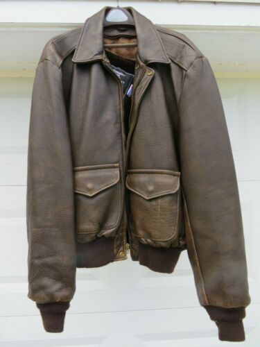 Vintage Schott Brothers Men's WW2 Bomber Style Lea