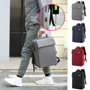 Unisex-Anti-Theft-USB-Charge-Port-Business-Backpack-Laptop-Travel-School-Bag-SH