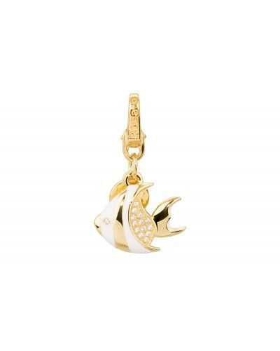 Charm Miniatura pinkto de silver 925 chapado en gold -pescado - HL012 - NEW