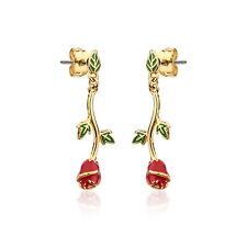 Disney Couture la bella e bestia placcata oro Incantato Rosa Orecchini A Goccia