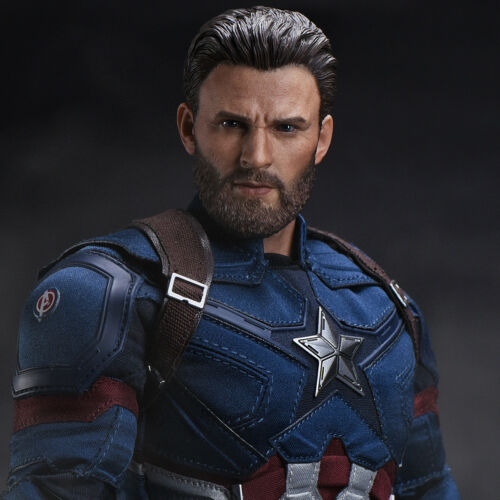 1:6 Scale ZC TOYS Captain America Male Head Sculpt Chris Evans Head Model