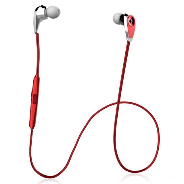 Wireless Bluetooth Sport Stereo Earphone Headphone For iPhone-Samsung-LG Red