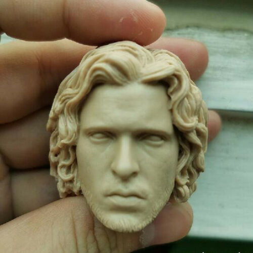 "Blank Hot 1//6 Scale Game Of Thrones Jon Snow Head Sculpt Unpainted Fit 12/"" Body"