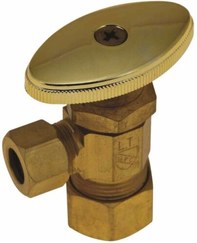 Rough Brass Od Comp Durapro 750134 Angle Stop Od Comp X 3//8 In Lead 5//8 In