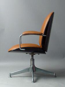 ICO Parisi Mim ROM 1959 sedia girevole sedia poltrona in pelle | eBay