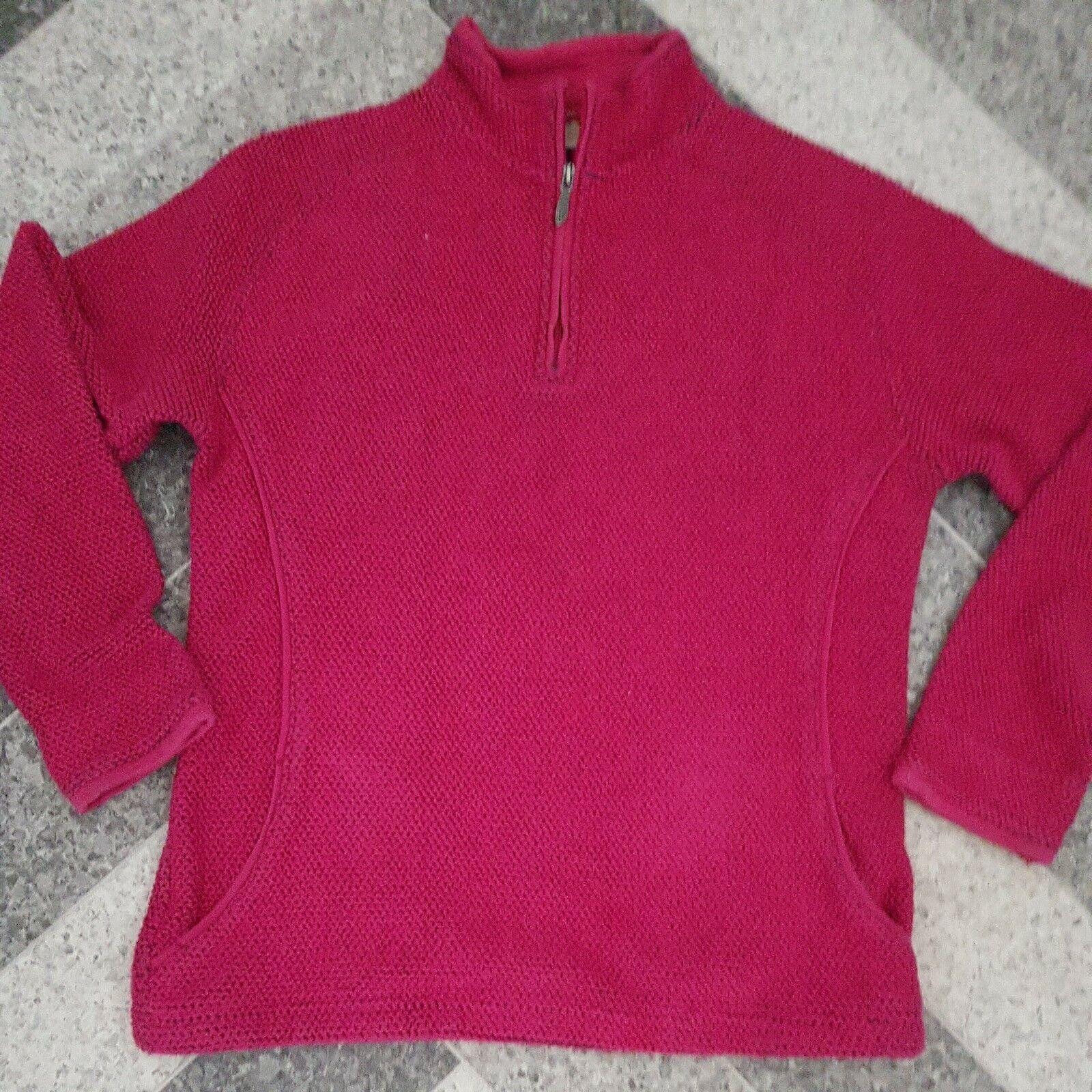 Weird Fish Macaroni Sweatshirt 1/4 Zip Sweater Pink Ladies Size Large Approx 12